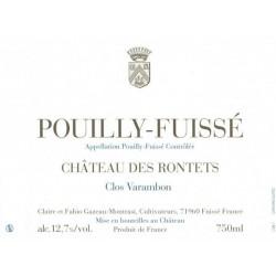 """Château des Rontets Pouilly-Fuissé """"Clos Varambon"""" 2018 blanc sec etiquette"""