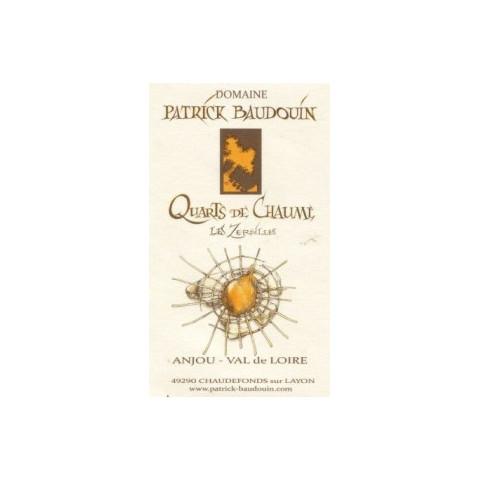 """Domaine Patrick Baudouin Quarts de Chaume """"Les Zersilles"""" blanc liquoreux 2015 etiquette"""
