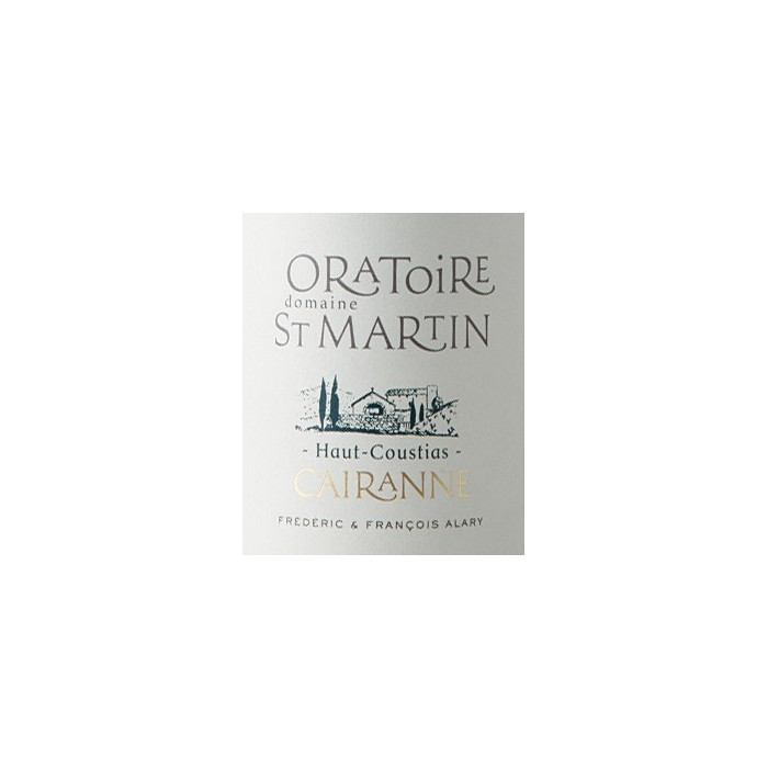"""Domaine de l'Oratoire Saint-Martin Cairanne """"Haut-Coustias"""" dry white 2019"""