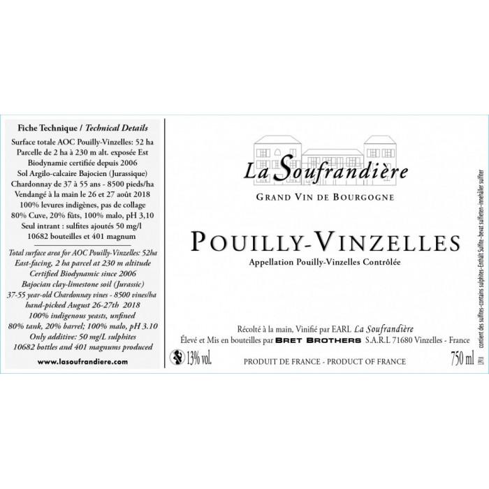 Bret Brothers Domaine La Soufrandière Pouilly-Vinzelles 2019 etiquette