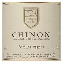 """Domaine Philippe Alliet Chinon """"Vieilles Vignes"""" rouge 2013 etiquette"""