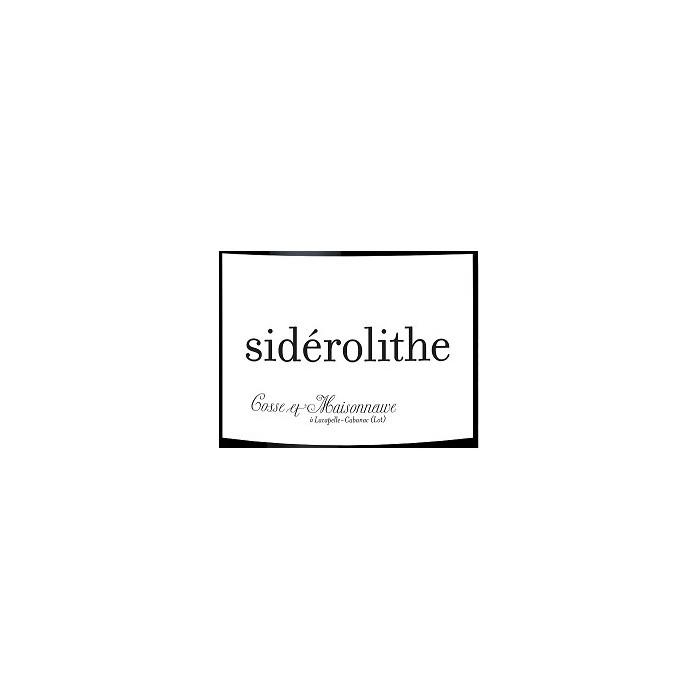 """Domaine Cosse-Maisonneuve """"Sidérolithe"""" (100% CF) rouge 2018 etiquette"""