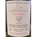 """Clos du Mont-Olivet Lirac """"Marie Jausset"""" rouge 2018 contre etiquette"""