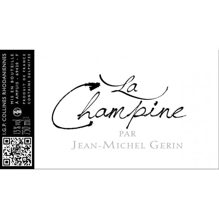 Domaine Jean-Michel Gerin La Champine rouge 2019 etiquette