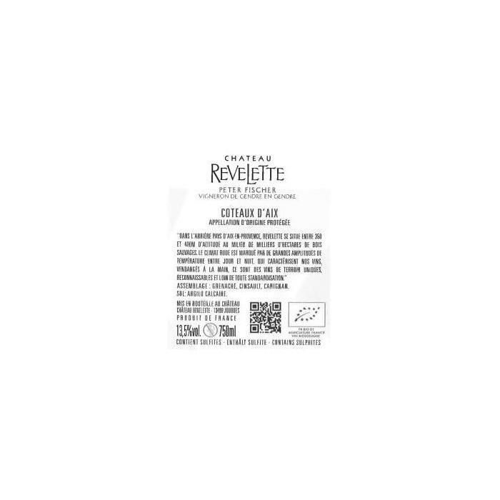 Château Revelette rosé 2019 contre etiquette