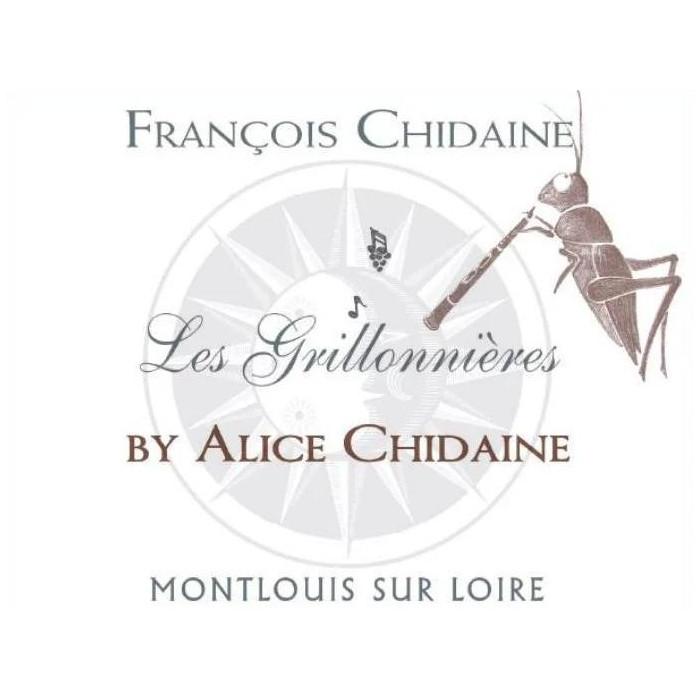 """Domaine François Chidaine Montlouis """"Les Grillonnières by Alice Chidaine"""" blanc sec 2019 etiquette"""