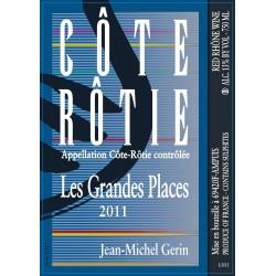 Domaine Jean-Michel Gerin Cote-Rotie Les Grandes Places rouge 2012 etiquette