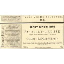 Bret Brothers Pouilly-Fuisse Les Chevrières 2013 blanc sec etiquette