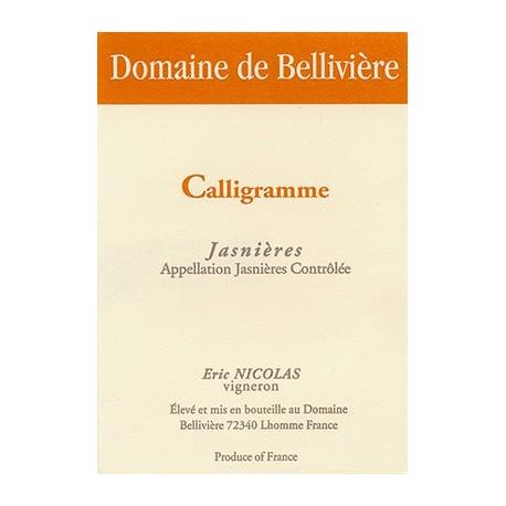 Domaine de Belliviere Calligramme blanc sec 2013 etiquette