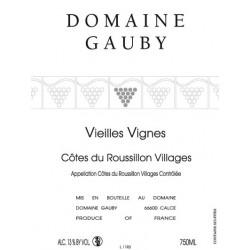 """Cote du Roussillon Gauby """"Vieilles Vignes"""" rouge 2013 etiquette"""