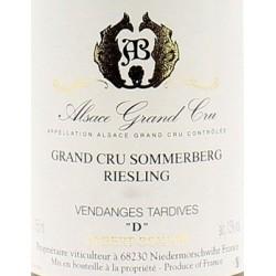 Domaine Albert Boxler Riesling Grand Cru Sommerberg D Vieilles Vignes Vendanges Tardives 2011 blanc moelleux etiquette