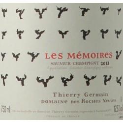 """Domaine des Roches Neuves Saumur-Champigny """"Les mémoires"""" 2013 etiquette"""