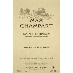 "Mas Champart Saint-Chinian ""Causse du Bousquet"" rouge 2013"
