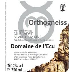 """Domaine de l'Ecu Muscadet de Sèvre et Maine """"Orthogneiss"""" blanc sec 2014"""
