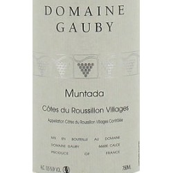 Domaine Gauby Roussillon Muntada 2012 etiquette