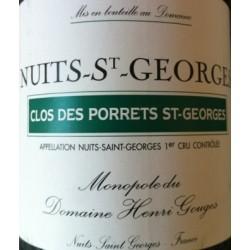 """Domaine Henri Gouges Nuits-Saint-Georges 1er Cru """"Clos des Porrets Saint-Georges"""" rouge 2013"""
