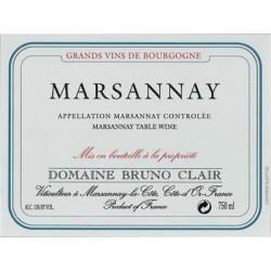 Domaine Bruno Clair Marsannay blanc sec 2013 etiquette