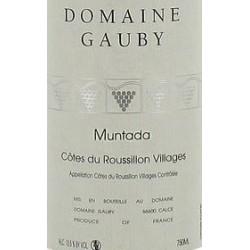 """Domaine Gauby """"Muntada"""" rouge 2013 etiquette"""