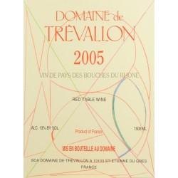Domaine de Trevallon 2005 etiquette