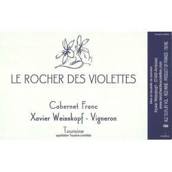Rocher des Violettes Xavier Weisskopf Touraine Cabernet Franc 2014 etiquette