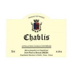 Domaine Droin Chablis 2015 etiquette