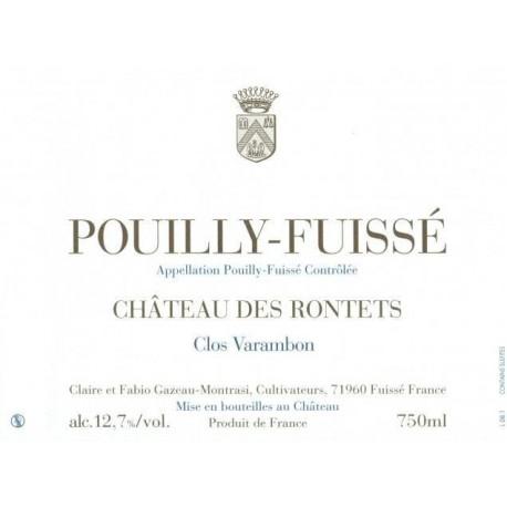 """Château des Rontets Pouilly-Fuissé """"Clos Varambon"""" 2014 blanc sec etiquette"""