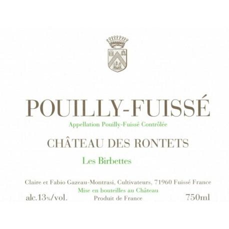 """Château des Rontets Pouilly-Fuissé """"Les Birbettes"""" 2014 blanc sec etiquette"""