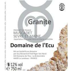 "Domaine de l'Ecu Muscadet de Sevre et Maine ""Granite"" dry white 2015"
