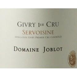 Domaine Joblot Givry 1er Cru Servoisine blanc 2015 etiquette
