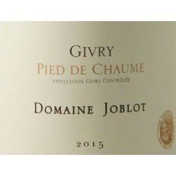 Domaine Joblot Givry Pied de Chaume blanc 2015 etiquette