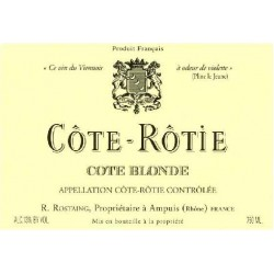 """Domaine Rostaing Côte-Rôtie """"Côte Blonde"""" rouge 2010 etiquette"""