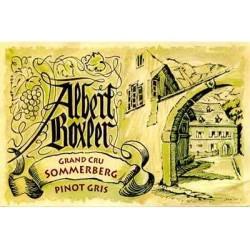 "Domaine Albert Boxler Pinot Gris Grand Cru Sommerberg ""W"" 2011 blanc demi-sec etiquette"