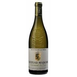 Chateau Maucoil Chateauneuf du Pape blanc 2015 bouteille