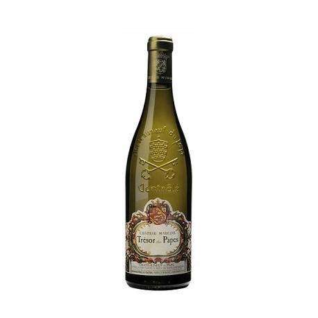 """Château Maucoil Châteauneuf du Pape """"Trésor des Papes"""" blanc 2014 bouteille"""