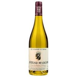 Chateau Maucoil Cotes du Rhone Villages blanc 2016 bouteille
