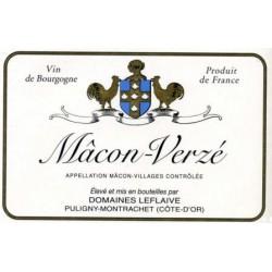 Domaine Leflaive Macon Verze blanc sec 2015 bouteille