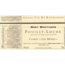 """Bret Brothers Pouilly-Loché """"Les Mures"""" blanc sec 2015 etiquette"""