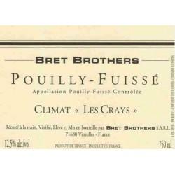 """Bret Brothers Pouilly-Fuissé """"Les Crays"""" blanc sec 2015 etiquette"""