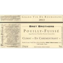 """Bret Brothers Pouilly-Fuisse """"En Carementrant"""" blanc sec 2015 etiquette"""