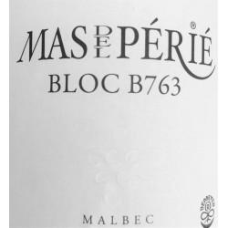 """Mas del Périé Cahors """"Bloc B763"""" 2015 etiquette"""