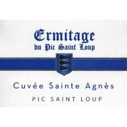 """Ermitage du Pic Saint-Loup """"Sainte Agnès"""" rouge 2015 etiquette"""