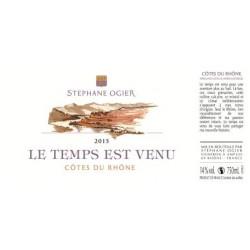 """Domaine Stéphane Ogier """"Le Temps est Venu"""" (Grenache) blanc sec 2016 etiquette"""