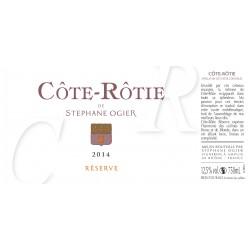 """Stephane Ogier Cote-Rotie """"Reserve"""" 2013 etiquette"""