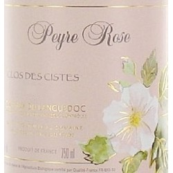 Domaine Peyre Rose Languedoc Clos des Cistes 2007 etiquette