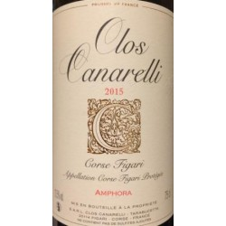 Clos Canarelli Amphora rouge 2015 etiquette