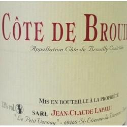 Domaine Jean-Claude Lapalu Cote de Brouilly red 2016