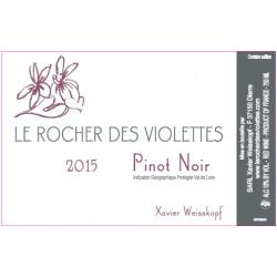 """Le Rocher des Violettes """"Pinot noir"""" rouge 2015 etiquette"""