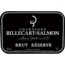 "Champagne Billecart Salmon ""Brut Reserve"" etiquette"