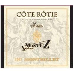 """Domaine de Monteillet (Stéphane Montez) Côte Rôtie """"Fortis"""" rouge 2015 etiquette"""