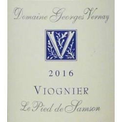 George Vernay viognier le pied de samson 2016 etiquette